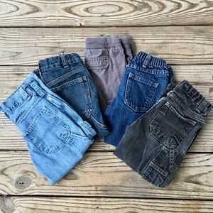 Boys Jeans size 4T. Lot of 5 pair.